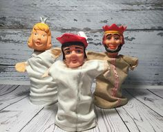 Hand Puppets . King Princess and Nobleman . Set of 3 .