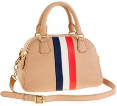 ShopStyle: J.Crew Biennial medium satchel in stripe #jcrew #tote #bag