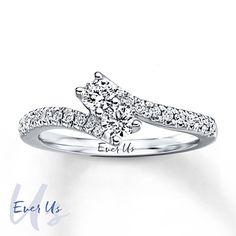 Ever Us Two-Stone Ring 1/2 ct tw Diamonds 14K White Gold