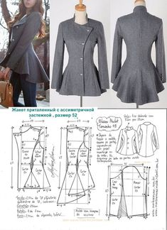 Aswathy priya s 452 media analytics – Artofit Riding jacket pattern with flared bottom Love the flair! Coat Patterns, Dress Sewing Patterns, Clothing Patterns, Skirt Patterns, Vogue Patterns, Blazer Pattern, Jacket Pattern, Jumpsuit Pattern, Diy Clothing