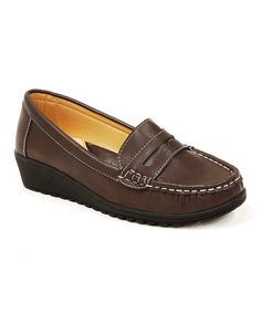 Look what I found on #zulily! Brown Penny Loafer #zulilyfinds