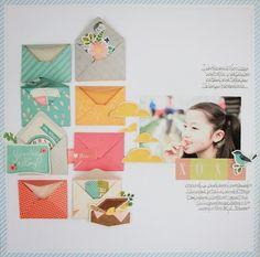 #papercraft #scrapbook #layout S-photo time: Gosamer Blue: February's blog post layout