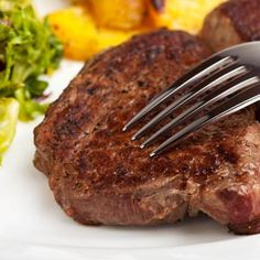 Restaurant-Style Marinated Sirloin Steaks - Here's a marinade that adds flavor and tenderness to lean top sirloin. Calories245 Protein32 g Carbohydrates7.5 g Dietary fiber0.2 g Fat9 g Saturated fat2.8 g Cholesterol87 mg Sodium273 mg Calories from Fat34%