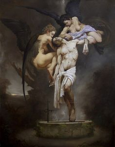 Roberto Ferri born 1978 is an Italian artist and painter from Taranto, Italy, who is deeply inspired by Baroque painters (Caravaggio in part. Caravaggio, Italian Painters, Italian Artist, Toledo Museum Of Art, Dark Artwork, Baroque Art, Oil Painting Reproductions, Classical Art, Realism Art