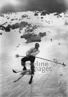 Skifahrer auf der Zugspitze, 1926 Gerd Pfeiffer/Germany