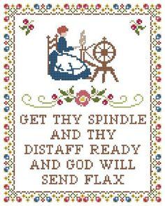 Spinning Wheel Sampler - Cross Stitch Kit. $18.00, via Etsy.