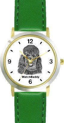 Poodle - Toy (SC) Dog - WATCHBUDDY® CLASSIC DELUXE TWO-TONE THEME WATCH - Arabic Numbers-Green Leather Strap-Children's Size-Small ( Boy's Size & Girl's Size ) WatchBuddy. $49.95. Save 38% Off!