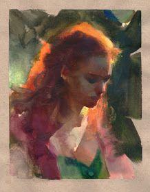 Nathan Fowkes Art: Gouache Sketchbook Study