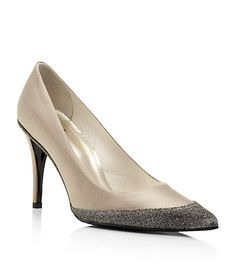Stuart Weitzman Fair Lady Glitter Pump