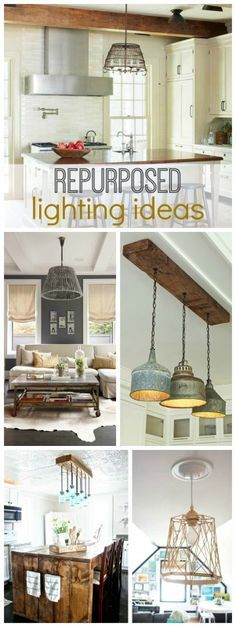 Get the vintage look in your home with repurposed lighting! We show you how to use antique flea market finds such as mason jars to add a unique lighting element to any room in your home. These DIY lights will complete your farmhouse style.