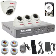 Find More CCTV DVRs Information about New SUNCHAN 500GB Home Security System 4CH D1 HDMI DVR KIT 4PCS 600TVL IR Indoor Dome CCTV Camera 23 LEDs Surveillance Kit,High Quality camera backpack,China camera leveler Suppliers, Cheap camera movement from Sunchan Development(Shenzhen)Co.,Ltd on Aliexpress.com