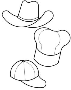 paper doll accessories colors sun hats and template
