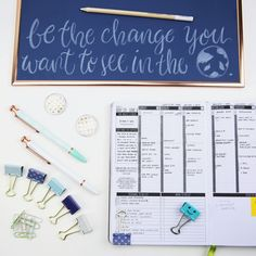 Change ✨ starts with you and one small step can make a world of difference! To make sure we're organized in keeping track of our progress, we use some of our favorite supplies from @u_brands! - #passionplanner #ubrands #change #quotes