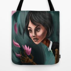 Flower Lady Tote Bag by Lily Fitch - $22.00