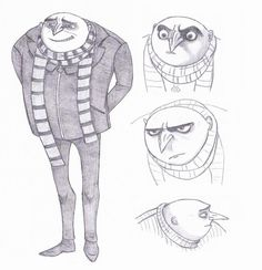 I saw this awesome movie 2 days ago. Gru is really, really cool. Pencil