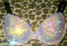 Swarovski AB Cystal T-shirt Bra Any Size A-G Cups. If you're going to put rhinestones on anything! Use Swarovski crystals! Bedazzled Bra, Bling Bra, Rhinestone Bra, Rave Outfits, Sexy Outfits, Girly Outfits, Mario E Luigi, Diamond T Shirt, Rave Wear