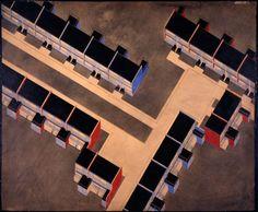 Alfred Arndt and Walter Gropius, Housing Development, Dessau-Törten, exterior color scheme, building type 1, isometric, 1926