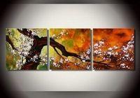 3132 pintado à mão 3 peça moderna decorativo parede pintura a óleo sobre tela para sala de estar como presente original