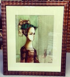 We love it when we use a frame that looks like it's part of the artwork! Custom framed by FastFrame of LoDo.