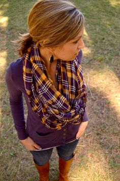 Cute purple  casual fall outfit