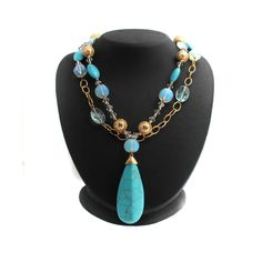 Suzanne Somers Caribbean Waters Layered Necklace Set #SuzanneSomers #StrandString