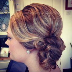 Sleek vintage wedding bridal hair