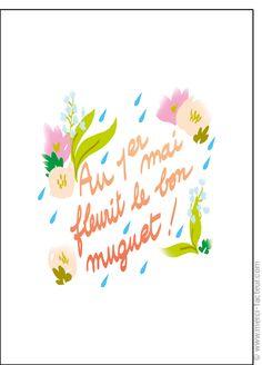 #carte #1erMai #Fetedutravail Carte Au 1er Mai fleurit le muguet pour envoyer par La Poste, sur Merci-Facteur !