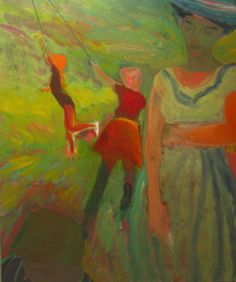 """kundst: """" Elmer Bischoff (US Playground, 1954 oil on canvas, 172 x 140 cm Bay area figurative movement """" Bay Area Figurative Movement, Figurative Kunst, Art Station, Abstract Painters, Illustrations, Figure Painting, Painting Art, New Artists, Traditional Art"""