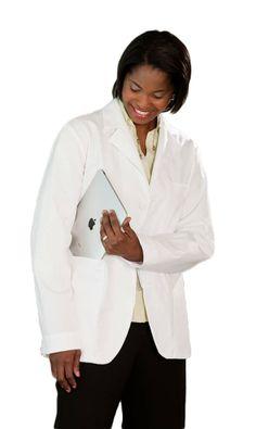 White Swan / Meta - Unisex Consultation Coat - iPad Fits in the Pocket - XX-Small - Lab Coats, Womens Scrubs, White Swan, Medical Scrubs, Large White, 30th, Unisex, Fitness, Ipad