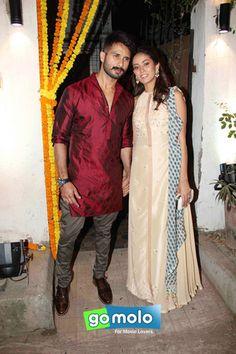 Shahid Kapoor & Mira Rajput at Masaba Gupta's Sangeet ceremony in Mumbai