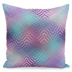 Moderná fialovo modrá obliečka na vankúše Throw Pillows, Bed, Toss Pillows, Cushions, Decor Pillows, Beds, Decorative Pillows