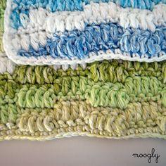 Ripple Puff Crochet Cleaning Cloth.. Free pattern!