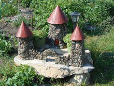 замок из щебенки,мастер класс,мк,замок для сада,своими руками,садовая фигура,обустройство приусадебного участка,декор для дачи, мини — замок,старинный замок, садовая скульптура из подручных материалов