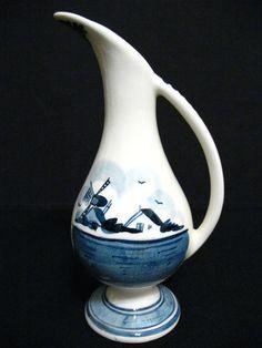Vintage Delft Blue Creamer Pitcher Handpainted Signed Delft Holland Windmill | eBay