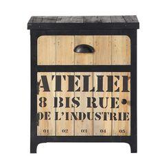 sous bureau docks meuble acier meuble chaussure chevet bois table de chevet