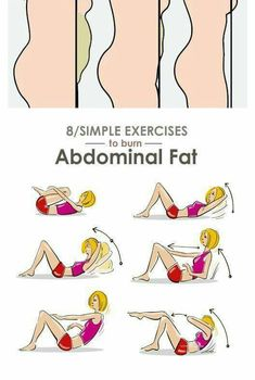 Belly Fat Workout - 8 Simple Exercises to Reduce Lower Belly Fat – Do This One Unusual Trick Before Work To Melt Away Pounds of Belly Fat Exercise For Lower Belly, Lower Belly Fat, Reduce Belly Fat, Lose Belly, Fitness Workouts, Easy Workouts, At Home Workouts, Cardio Workouts, Fitness Tips