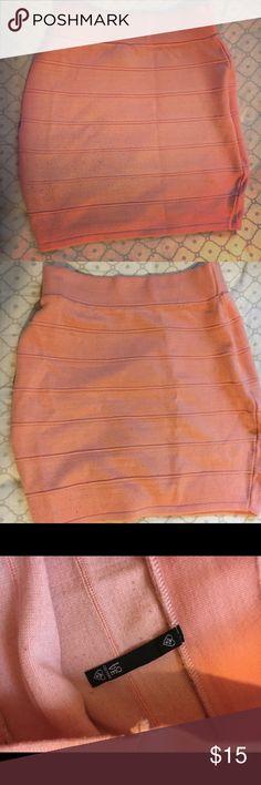 Pink bandage skirt. Size medium. Pink bandage skirt. Somewhat high waisted. Size medium Love Culture Skirts Midi