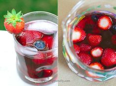 Summer Triple-Berry Sangria with a hint of Ginger