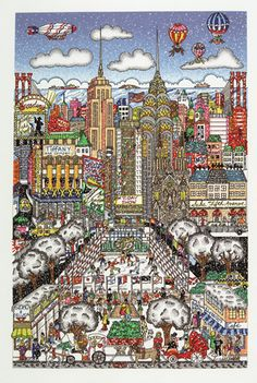 Charles Fazzino 3D Pop Art Cityscape New York - Artwork - Snow day in NYC