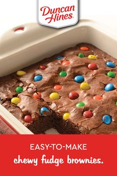Our Chewy Fudge Brownies are sure to be your familys new favorite treat. Cake Mix Recipes, Brownie Recipes, Chocolate Recipes, Baking Recipes, Cookie Recipes, Dessert Recipes, Just Desserts, Delicious Desserts, Yummy Food