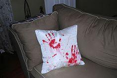 Bloddy Throw Pillow