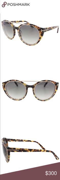 NEW Tom Ford FT0383 Joan Sunglasses 56B Tort/ROG NEW Tom Ford Round Sunglasses TF383 Joan 56B Tortoise/Rose Gold FT0383.    100% UV protection     What's Included:authentic Tom Ford case, cleaning cloth and authenicity card.    Model Number:TF383 Joan   Color Code:56B  Frame Material:Plastic (Acetate)Frame Color:Tortoise/Rose Gold   Made in:Italy                        Lens Color:Rose/Green Gradient Retail Pr:$415  Gen.:Female Shape:Round Lens Type:Gradient    Lens WidthLens…