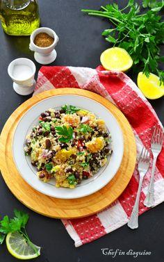 Quinoa salad with mango and black beans