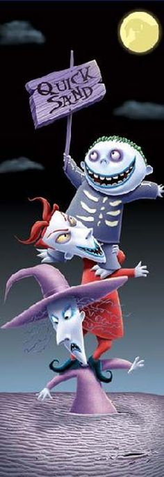 Lock Shock & Barrel: No Fun Without Scare by Robert Farrell  Tim Burton Artwork at CEL-EBRATION! Animation Art Gallery