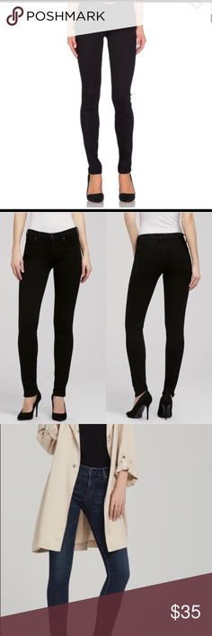 Citizens of Humanity  Avedon skinny jeans This is a repost. I recently bought these and was heartbroken that they didn't fit because these are gorgeous! There is something about a classic black skinny jean that makes a girl feel like a woman. These are in great condition and no signs of wear. An amazing staple to add to your wardrobe. They are tagged as a 26 but I think these could easily fit someone with a 25/0 waist as they are super skinny. I paid $45 but I'm asking for $40 Citizens Of…