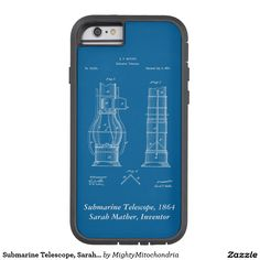 Shop Submarine Telescope, Sarah Mather Case-Mate iPhone Case created by MightyMitochondria. Telescope, Laptops, Inventions, Phones, How To Remove, Iphone Cases, Phone, I Phone Cases, Laptop