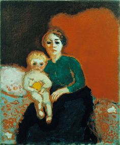 Mother and child, 1906 / Kees van Dongen. Cornelis Theodorus Maria van Dongen (26 January 1877 – 28 May 1968), usually known as Kees van Dongen or just Van Dongen, was a Dutch painter and one of the Fauves. He gained a reputation for his sensuous, at times garish, portraits