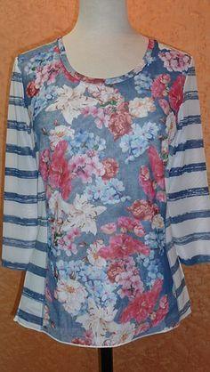 Popup designer floral top from Basler Clothing