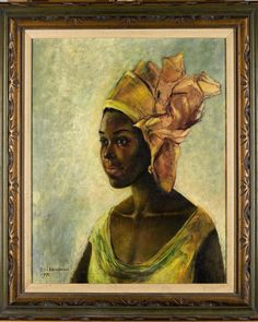 Recently discovered a in a Ben Enwonwu - Portrait of Christine 1971 .Ben Enwonwu is considered the pioneer of African contemporary art This rare diamond will Modern Artists, Great Artists, Euro, Mona Lisa, Contemporary African Art, Modern Contemporary, Most Famous Artists, Art Africain, African Artists