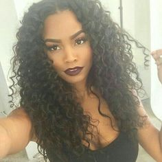 Beautiful curly sew-in.